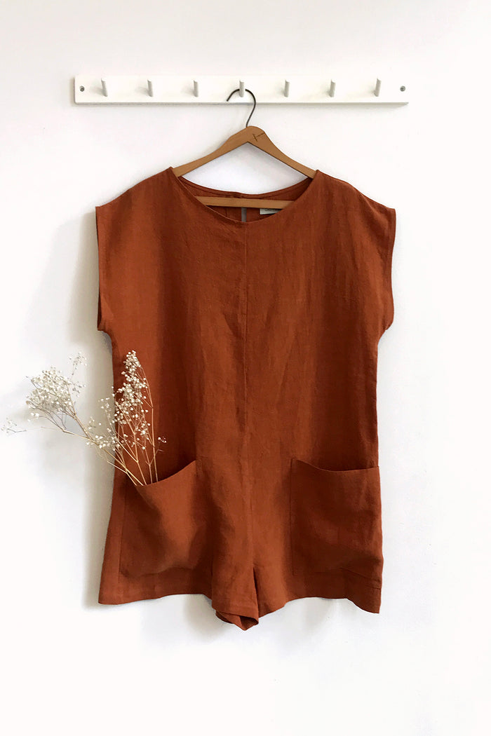 CHARLIE ROMPER COPPER