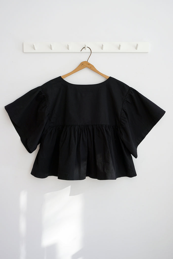 KELLY TOP BLACK VOILE