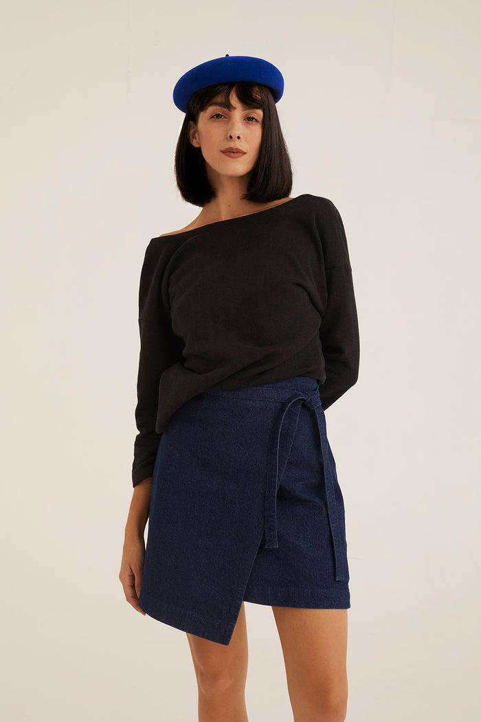 LOU SKIRT BLUE DENIM