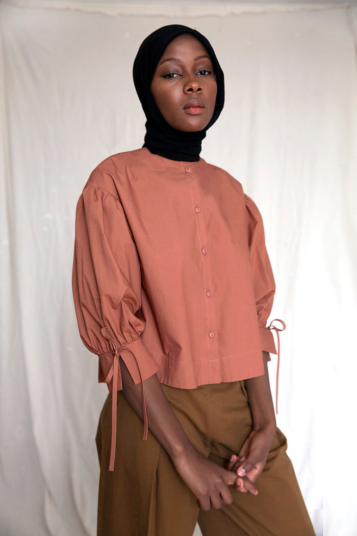 VICTORY BLOUSE RUSSET