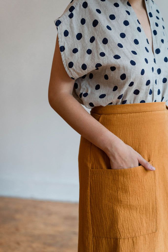 GEORGIA SKIRT OCHRE