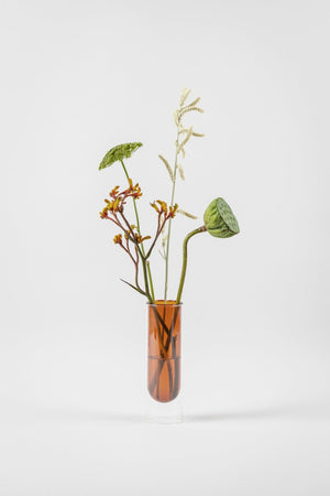 about form and function - Flower tube - amber - vase - nordcraft