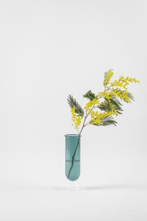 about form and function - Flower tube - cyan - vase - nordcraft