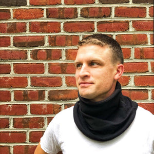 Adult Handmade Neck Warmer Solid Navy (multiple liners available)