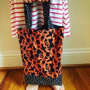 Toddler Sized Reversible Tote Fireflies