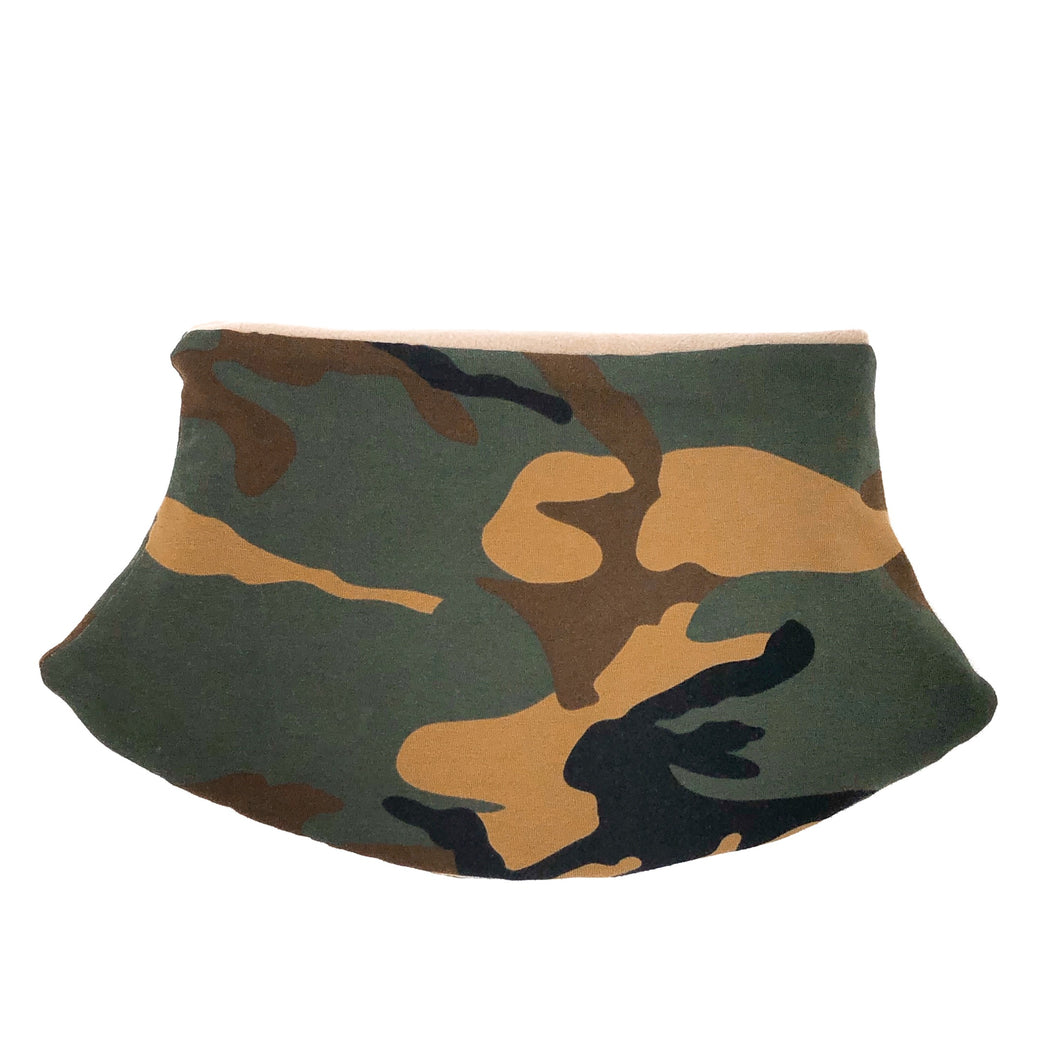 Adult Handmade Neck Warmer Camo