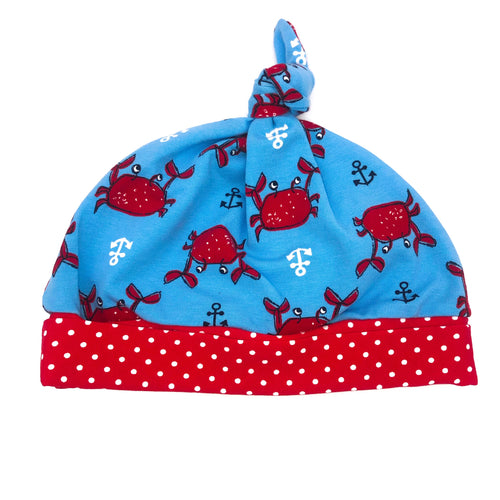 Knot Hat Crab, Anchors and Polka Dots in 9-12 months