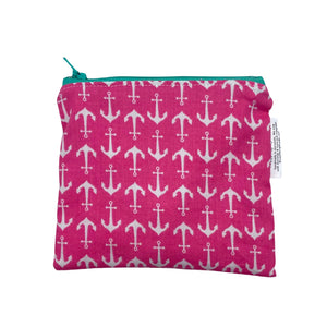 Large Wet Bag with Handle Tropical Vibes and Gold Metal Zipper