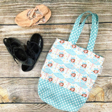 Toddler Sized Reversible Tote Ballerina Print