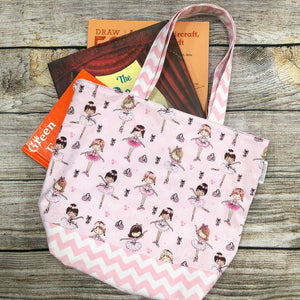 Children's Library Sized Reversible Tote Magical Unicorns