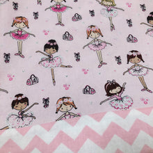 Children's Library Sized Reversible Tote Ballerina Print