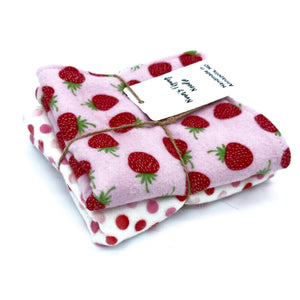 Set of 2 Regular - Strawberry Fields