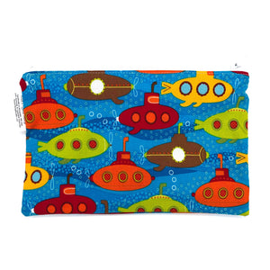 Snack Sized Reusable Zippered Bag Submarine