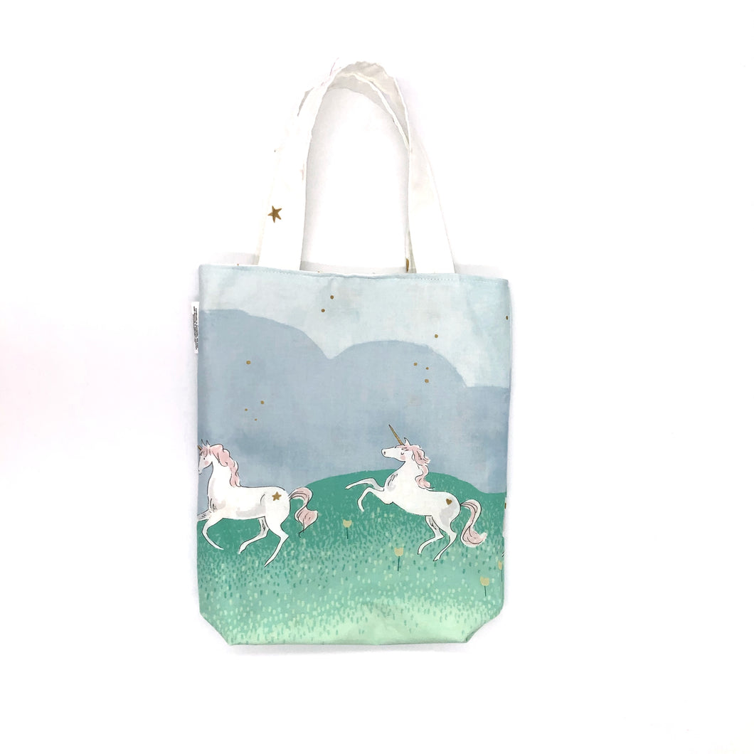 Toddler Sized Reversible Tote Magical Unicorns