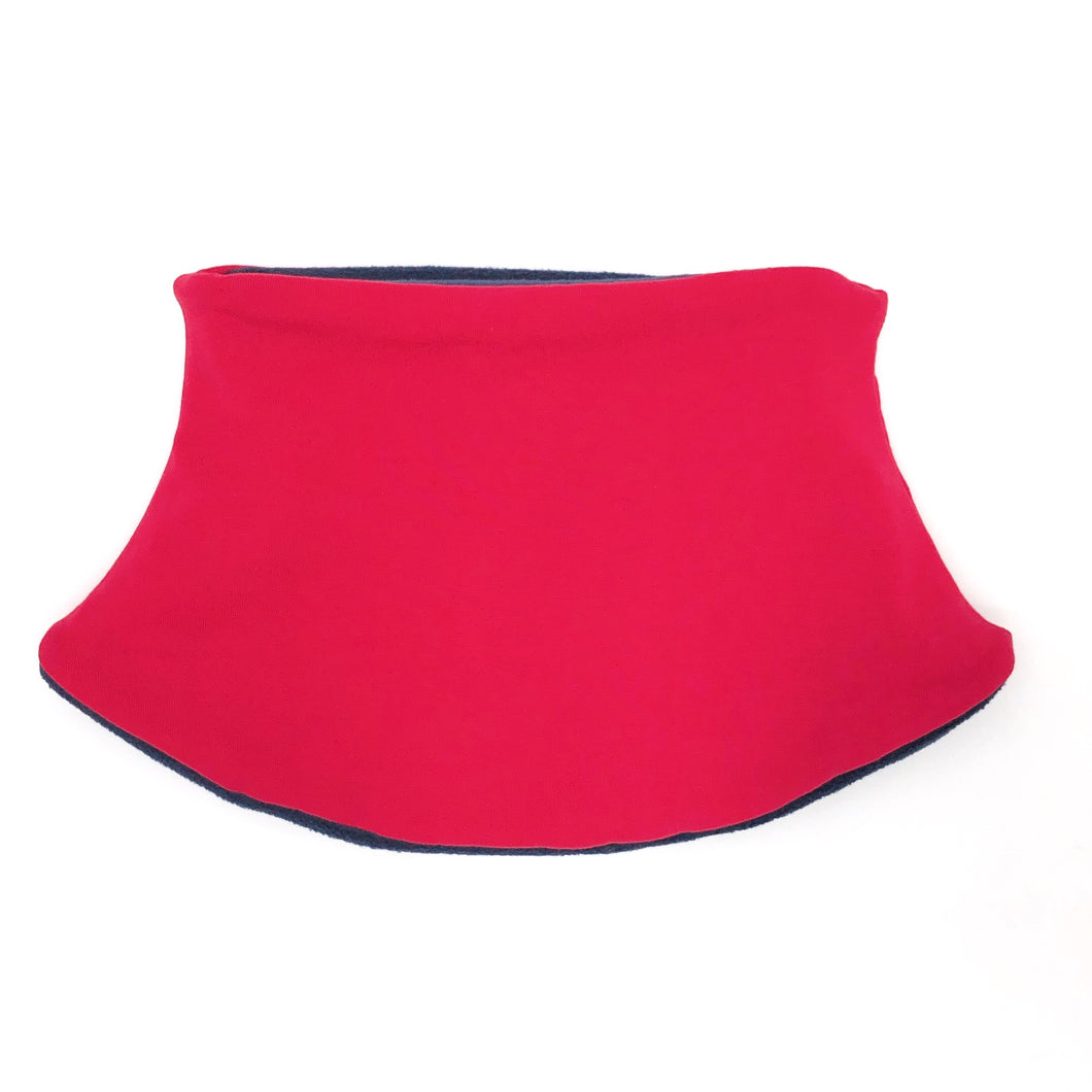Child's Handmade Neck Warmer Solid Red