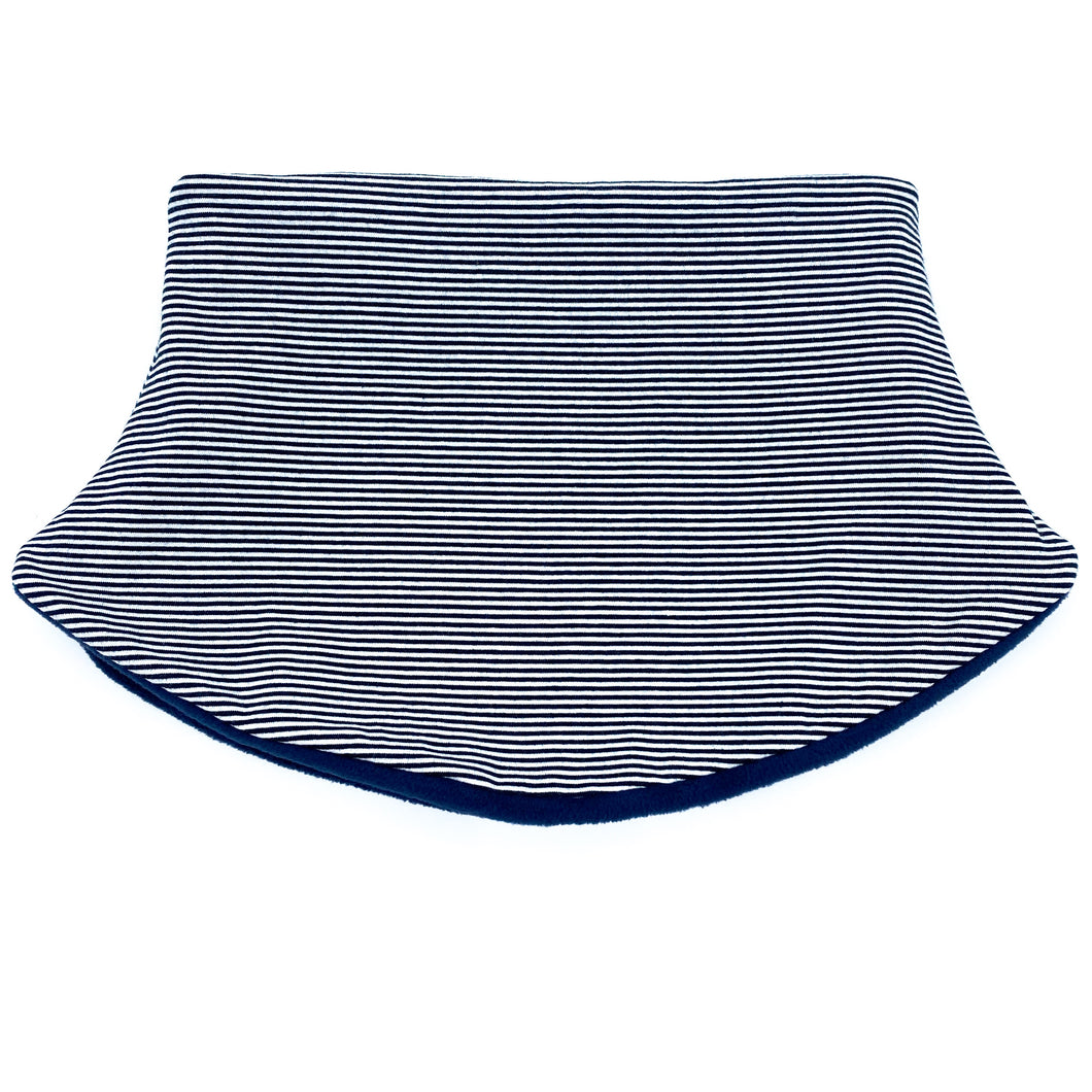 Adult Handmade Neck Warmer Thin Navy Stripes