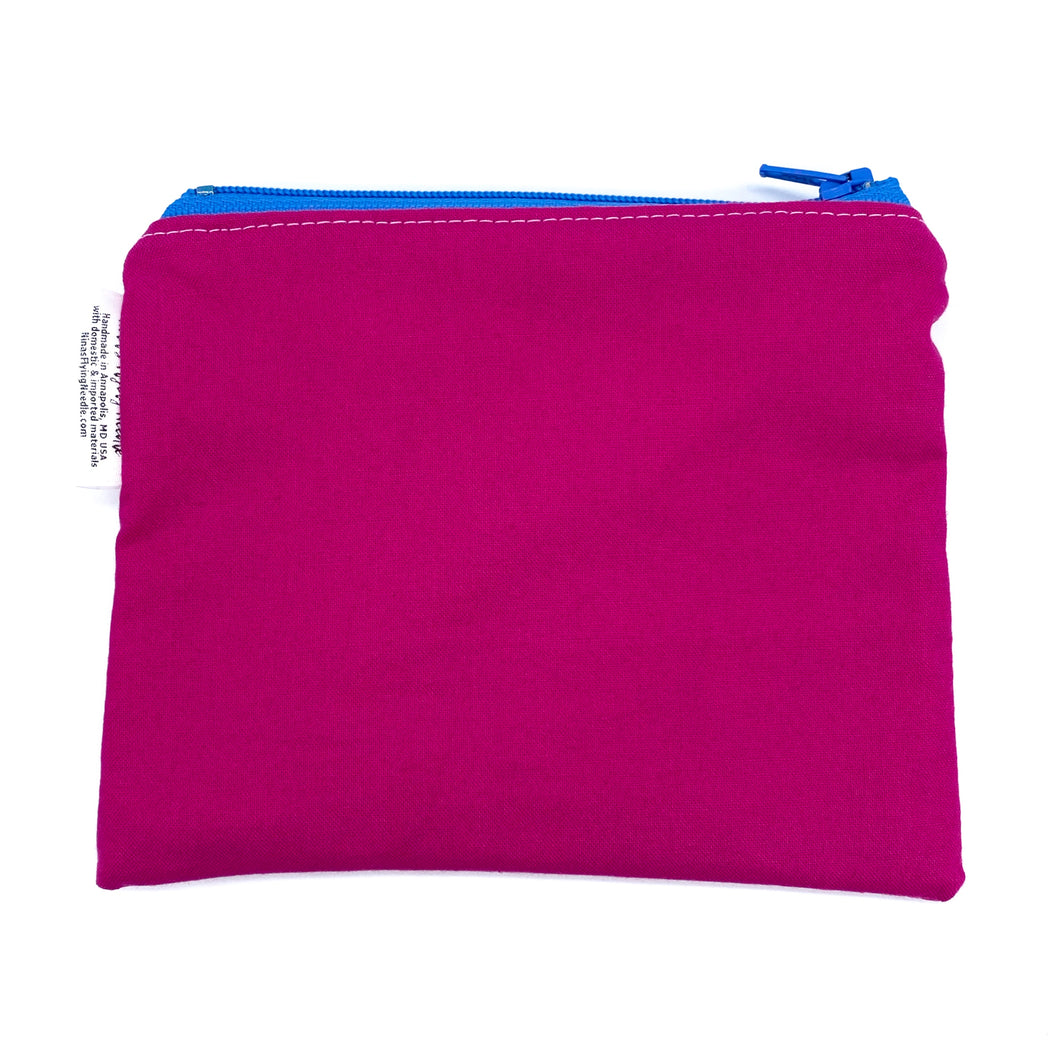 Toddler Sized Reusable Zippered Bag Solid Pink