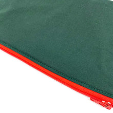 Snack Sized Reusable Zippered Bag Solid Green Olive