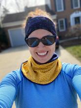 Adult Handmade Neck Warmer Anchors on Navy