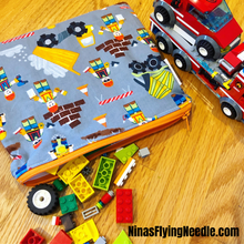 Sandwich Sized Reusable Zippered Bag Airplanes Colorful