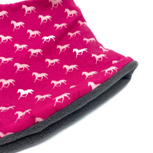Adult Handmade Neck Warmer Horses on Pink