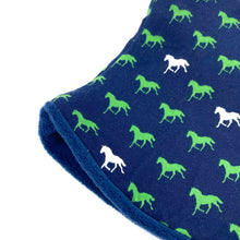 Adult Handmade Neck Warmer Horses on Navy
