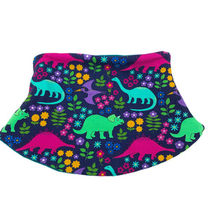 Child's Handmade Neck Warmer Dinosaurs Bright