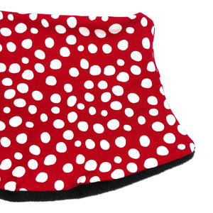 Child's Handmade Neck Warmer Red with White Dots