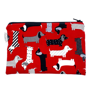 Snack Sized Reusable Zippered Bag Dogs Black and White