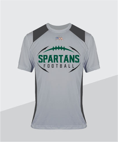 Spartans Color-Block Youth Performance Tee