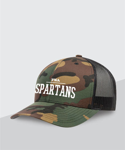 Spartans Camo Trucker Hat