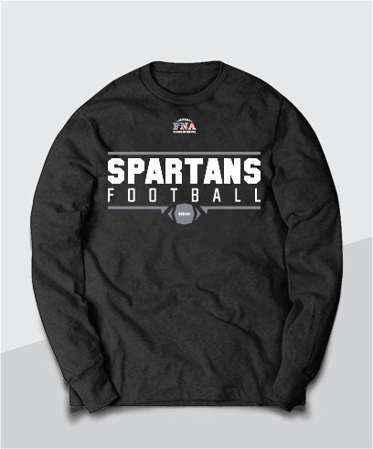 Spartans Gridiron Youth Long Sleeve Tee
