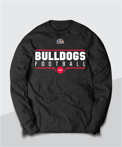 Bulldogs Gridiron Long Sleeve Tee