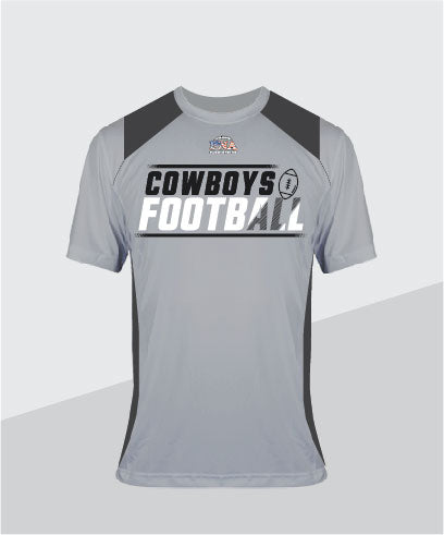 Cowboys Color-Block Performance Tee
