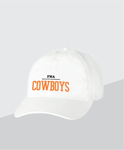 Cowboys White Dad Cap