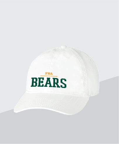 Bears White Dad Cap