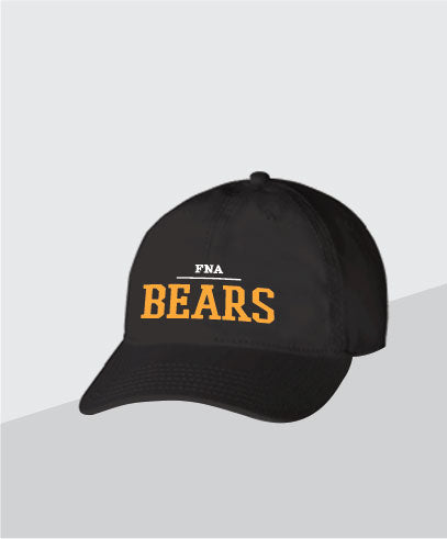 Bears Black Dad Cap