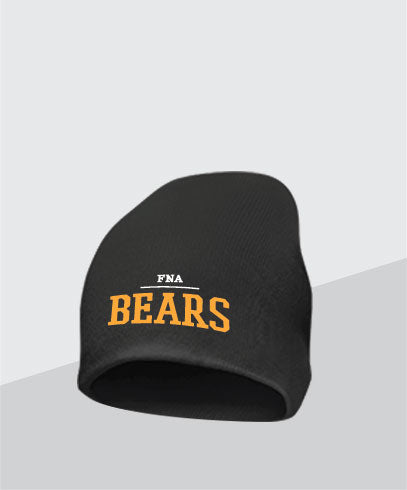 Bears Black Knit Cap