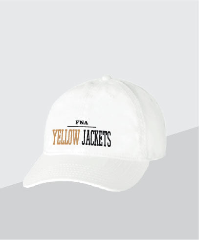 Yellow Jackets White Dad Cap