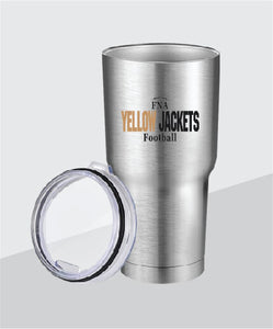Yellow Jackets 30 oz Stainless Steel Tumbler