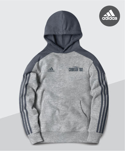 Crimson Tide Adidas Striped Sleeve Hoodie
