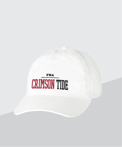 Crimson Tide White Dad Cap