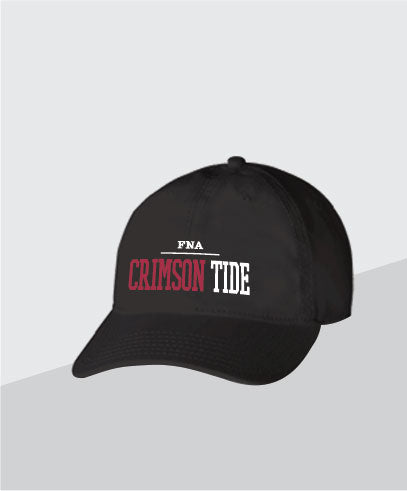 Crimson Tide Black Dad Cap