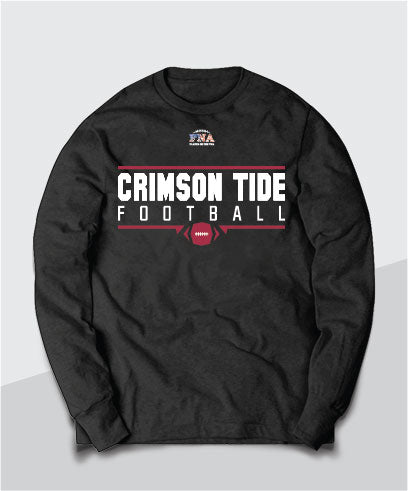 Crimson Tide Gridiron Long Sleeve Tee