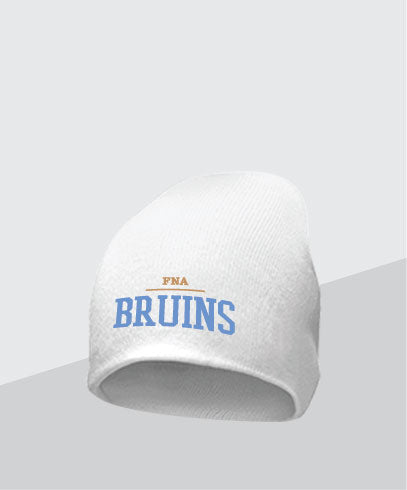 Bruins White Knit Cap