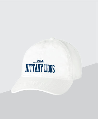 Nittany Lions White Dad Cap