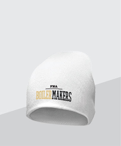 Boilermakers White Knit Cap