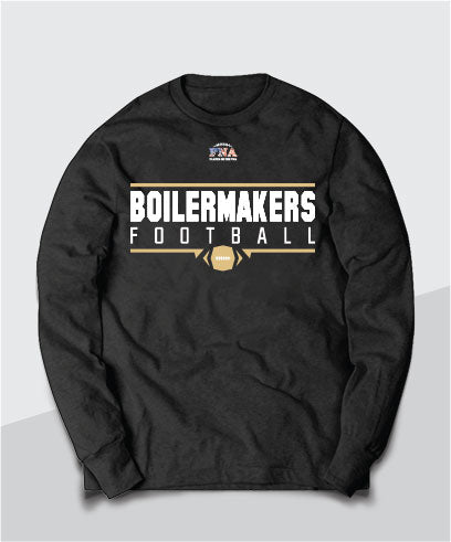 Boilermakers Gridiron Long Sleeve Tee