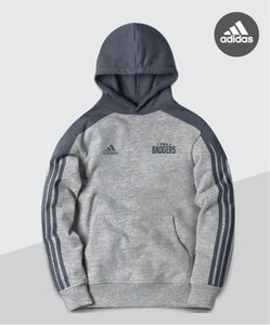 Badgers Adidas Striped Sleeve Hoodie