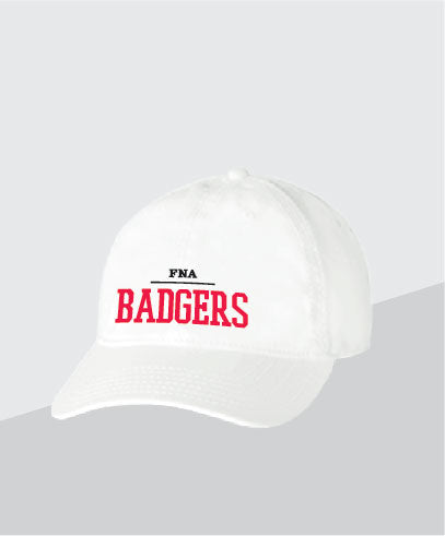 Badgers White Dad Cap